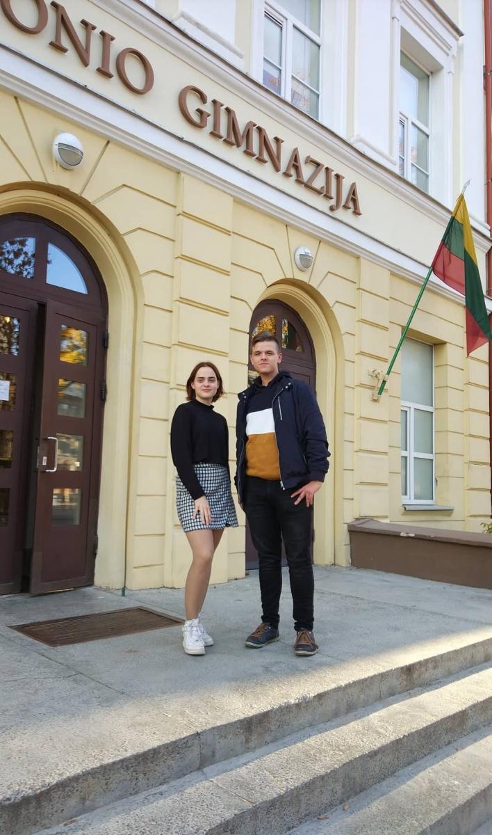 Du prezidentai- Milvydė Marija Tamutytė ir naujai išrinktas Arminas Stočkus